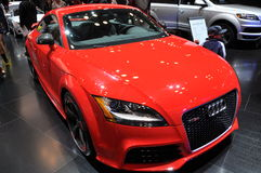 Audi Car. NEW YORK - APRIL 11: Audi Car Exhibit at the 2012 New York International Auto Show running from April 6-15, 2012 in New York, NY Stock Images