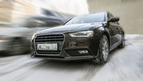 Audi car. Audi car on blurred background in motion Stock Photography