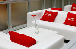Audi car exhibition in GUM, Moscow Stock Photo