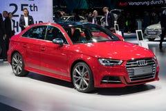 Audi A3 car. FRANKFURT, GERMANY - SEP 12, 2017: Audi A3 car at the Frankfurt IAA Motor Show 2017 Stock Image