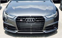 Audi A6 at a Car Lot Royalty Free Stock Images