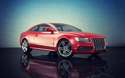 Audi A6 car. Red Audi A6 sedan car Royalty Free Stock Photo
