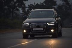 Audi car. Audi, a wonderful nighty look, kadra highway, jamshedpur, jharkhand, india Royalty Free Stock Photography