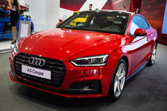 Audi A5 Coupe. Belgrade, Serbia - March 23, 2017: New Audi A5 Coupe presented at Belgrade 53th International Motor Show - MSA OICA Royalty Free Stock Photography