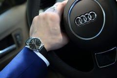 Audi de montre-bracelet Image libre de droits