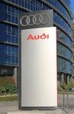 AUDI dealership logo stand in Herzliya, Israel. Royalty Free Stock Image