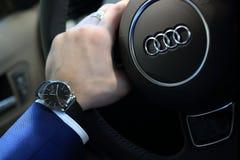 Audi dell'orologio fotografie stock libere da diritti