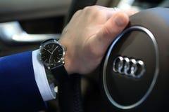 Audi dell'orologio immagine stock