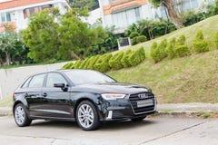 Audi A3 1 dia da movimentação 4T 2016 Foto de Stock Royalty Free