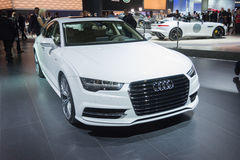 Audi A7 2015 on display Royalty Free Stock Photos