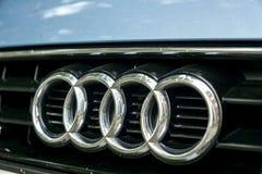 Audi do sinal do carro imagens de stock royalty free