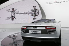 Audi e-tron electric sport car Stock Image
