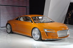 AUDI E-Tron pure electric concept sport car. In its exhibition hall,in 2010 international Auto-show GuangZhou. it is from 20/12/2010 to 27/12/2010. photo taken Stock Photography