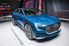 Audi e-tron quattro concept at the IAA 2015 Stock Photos