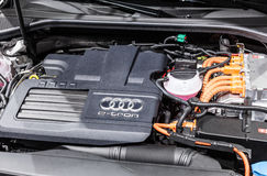 Audi e-tron quattro motor at the IAA 2015 Stock Image