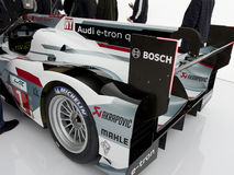 Audi e-Tron R18 Rear Side View, with spoiler Royalty Free Stock Images