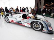 Audi e-Tron R18 wide passenger side view Royalty Free Stock Photo