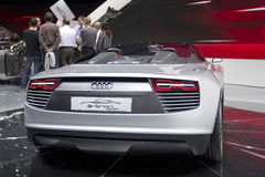 Audi e-tron Spyder in Paris Motor Show 2010 Royalty Free Stock Photography
