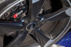 Audi emblem på en audibil arkivfoto