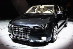 Audi en el automóvil del salón Fotografía de archivo