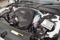 Audi A4 2016 Engine Stock Photo