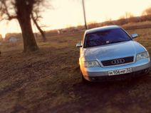Audi A6. The engine power 165ls year 2001, leather interior, color silver metallic, xenon Stock Images