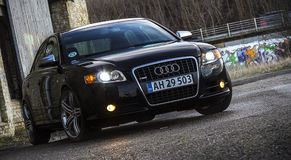 Audi A4 exterior luxury car. An Audi A4, luxury car Stock Images