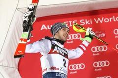 Audi FIS pucharu świata mężczyzna Slalomowa ceremonia wręczenia nagród Obraz Royalty Free