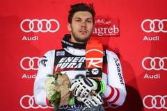Audi FIS pucharu świata mężczyzna Slalomowa ceremonia wręczenia nagród Obraz Stock
