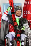 Audi FIS World Cup Mens Slalom award ceremony Stock Photo