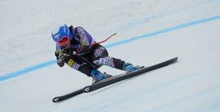 Audi FIS World Cup - Women's Downhill. CORTINA D'AMPEZZO, ITALY - JANUARY 24 2014:  During the FIS Alpine Ski World Cup Women's downhill race in Cortina d' Royalty Free Stock Photo