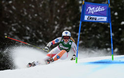 Audi FIS World Cup - Women's Giant Slalom. LIENZ, AUSTRIA - DECEMBER 28 2013:  During the FIS Alpine World Cup giant Slalom women's race in Lienz, Austria Stock Image