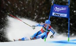 Audi FIS World Cup - Women's Giant Slalom. LIENZ, AUSTRIA - DECEMBER 28 2013:  During the FIS Alpine World Cup giant Slalom women's race in Lienz, Austria Stock Photo