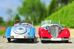 Audi 225 Front Roadster replica model cars Royalty Free Stock Photo