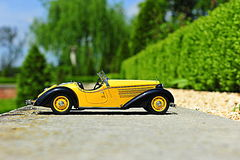 Audi 225 Front Roadster - 1935 vintage car scale replica Royalty Free Stock Photo