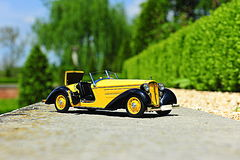 Audi 225 Front Roadster - 1935 vintage car scale replica Royalty Free Stock Photos