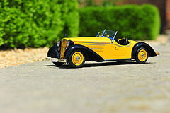 Audi 225 Front Roadster - 1935 vintage car scale replica Royalty Free Stock Images