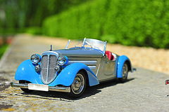 Audi 225 Front Roadster - 1935 vintage car scale replica Stock Image