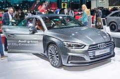 Audi A5 g-tron. Frankfurt-September 20:  Audi A5 g-tron at the Frankfurt International Motor Show on September 20, 2017 in Frankfurt Stock Photos