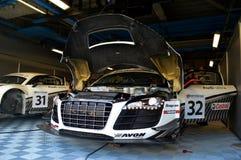 Audi garage arkivfoton