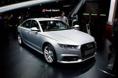 Audi A6 at Geneva 2016 Stock Images