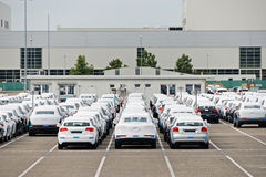 AUDI headquarter with parking Royalty Free Stock Photos