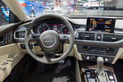 Audi A7 interior Stock Photography