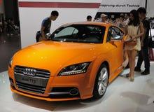 Audi jaune tts Photographie stock libre de droits