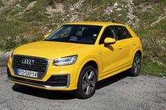 Audi jaune A3 4wd Photos libres de droits