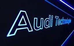 Audi korridor på IAA-bilarna Royaltyfri Bild