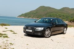 Audi A8L Long Base Sedan Stock Photo