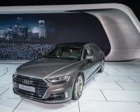 Audi 2018 A8L Quattro, NAIAS Imagen de archivo libre de regalías