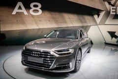 2018 Audi A8 L quattro samochód obrazy stock