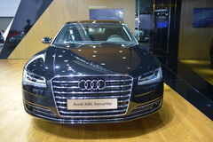 Audi A8L security saloon car Royalty Free Stock Images